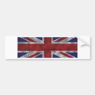 Majority Britain flag on steel sheet Bumper Sticker