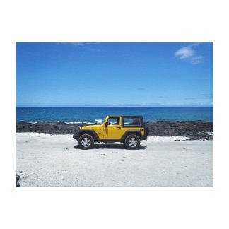 Makalawena Beach Hawaii jeep adventure canvas Gallery Wrapped Canvas