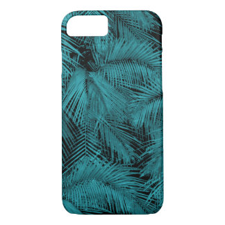 Makana Palms Hawaiian Teal Tropical Leaves iPhone 8/7 Case
