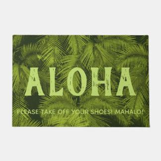 Makana Palms Hawaiian Tropical Leaves Aloha Green Doormat