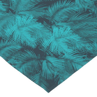 Makana Palms Hawaiian Tropical Print Short Table Runner