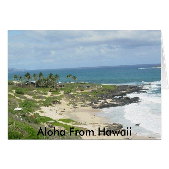 Makapu'u Beach, Aloha From Hawaii card