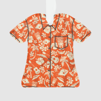Makapuu Beach Hawaiian Batik Aloha Shirt Ornament