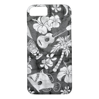 Makapuu Beach Hawaiian Charcoal Gray Batik iPhone 8/7 Case