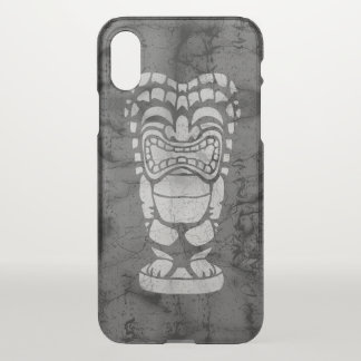 Makapuu Beach Hawaiian Laughing Tiki Batik Black iPhone X Case