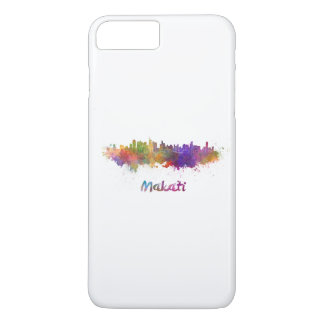 Makati skyline in watercolor iPhone 8 plus/7 plus case