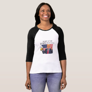 Make 4th of July Great Again  Trump funny T-Shirt