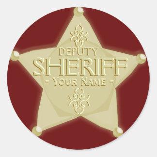 Make a Deputy Sheriff with Name Badge Sticker