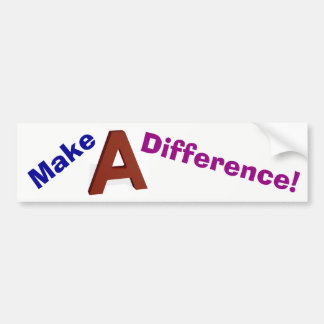 Make A Difference! color sticker