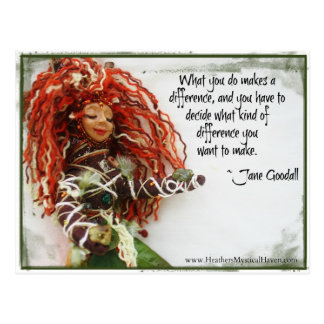 Make a Difference Quote Postcard