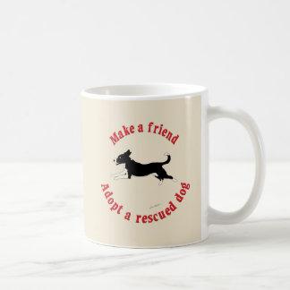 Make A Friend - Mutts Coffee Mug