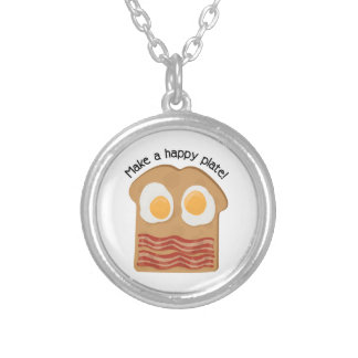 Make A Happy Plate! Round Pendant Necklace