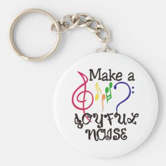 Make A Joyful Noise Basic Round Button Key Ring