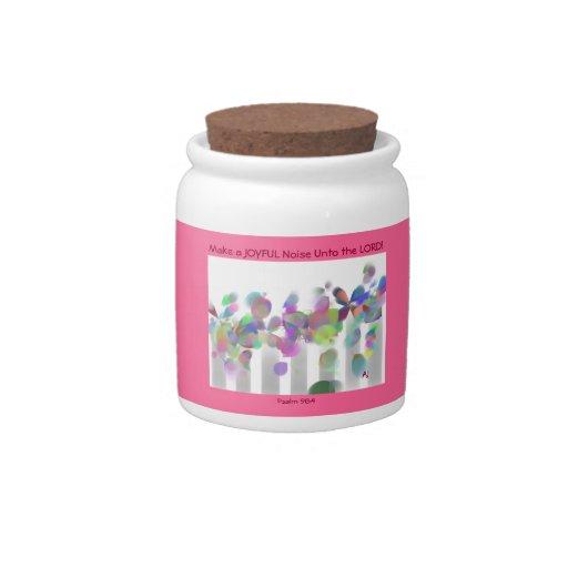 Make a Joyful Noise Candy Jar