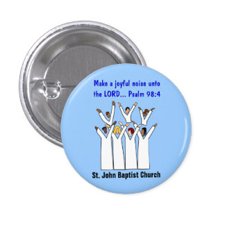 Make A Joyful Noise Christian Button