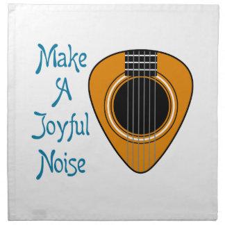 Make A Joyful Noise Cloth Napkin