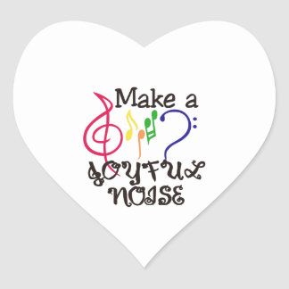 Make A Joyful Noise Heart Sticker