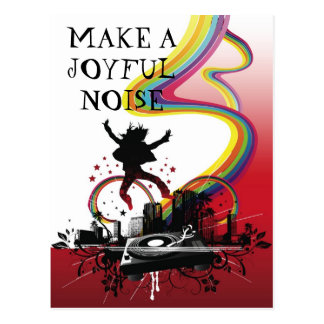 Make a Joyful Noise postcard
