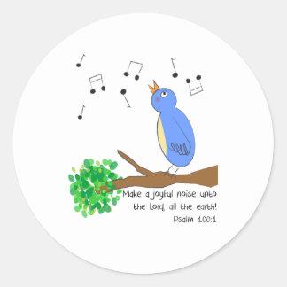 Make a Joyful Noise Classic Round Sticker