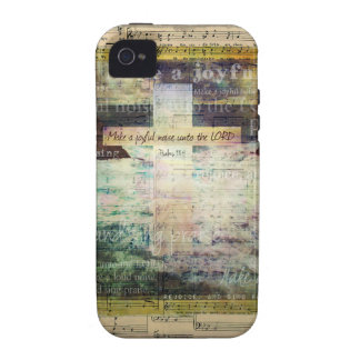 Make a joyful noise unto the LORD - Bible Verse Case-Mate iPhone 4 Cover