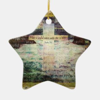Make a joyful noise unto the LORD - Bible Verse Christmas Tree Ornaments