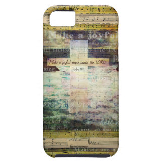Make a joyful noise unto the LORD - Bible Verse iPhone 5 Case