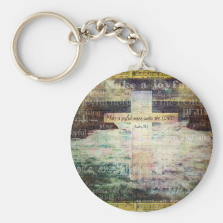 Make a joyful noise unto the LORD - Bible Verse Keychain