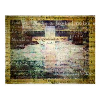 Make a joyful noise unto the LORD - Bible Verse Post Card