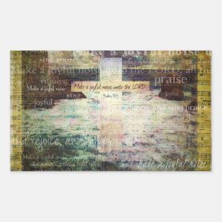 Make a joyful noise unto the LORD - Bible Verse Rectangular Stickers