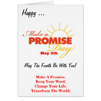 Make A Promise Day Greeting Card - Blank Inside