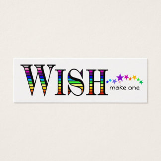 Make a Rainbow Wish Mini Business Card