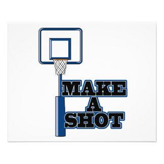 make a shot basetball net 11.5 cm x 14 cm flyer