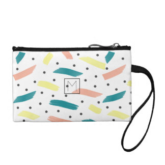 Make A Splash Abstract Initial Key Coin Clutch