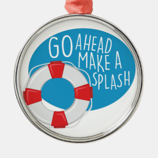 Make A Splash Silver-Colored Round Decoration
