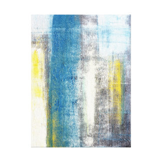 'Make A Statement' Blue and Grey Abstract Art Gallery Wrap Canvas