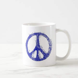 Make a Statement with grunge PEACE SIGN Coffee Mug