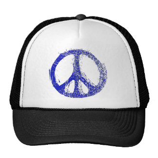 Make a Statement with grunge PEACE SIGN Trucker Hats