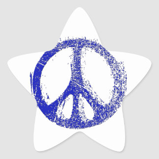 Make a Statement with grunge PEACE SIGN Star Sticker