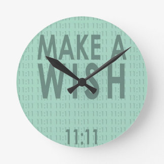 Make A Wish 11:11 Round Clock