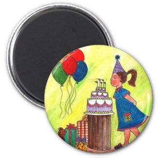 Make a Wish! 6 Cm Round Magnet