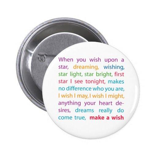 Make a Wish Pinback Button