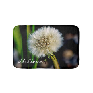 Make a Wish, Believe, Dandelion Bath Mat Bath Mats