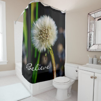 Make a Wish, Believe, Dandelion Shower Curtain