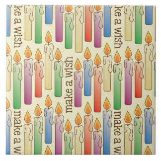 """Make a Wish"" Birthday Candles Tile"