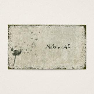 make a wish business card