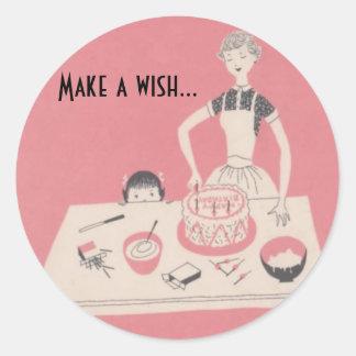 Make a wish... classic round sticker