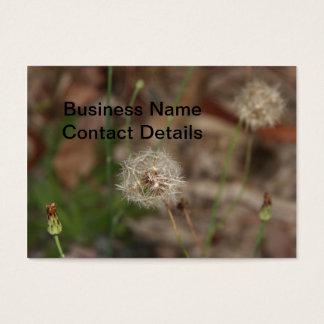 Make a Wish Dandelion Clock Business Card