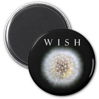 Make A Wish Dandelion Photography Round 6 Cm Round Magnet