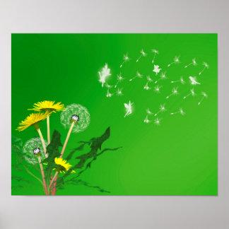 Make a wish dandelion posters