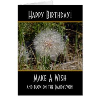 Make A Wish Dandylyon Birthday Card